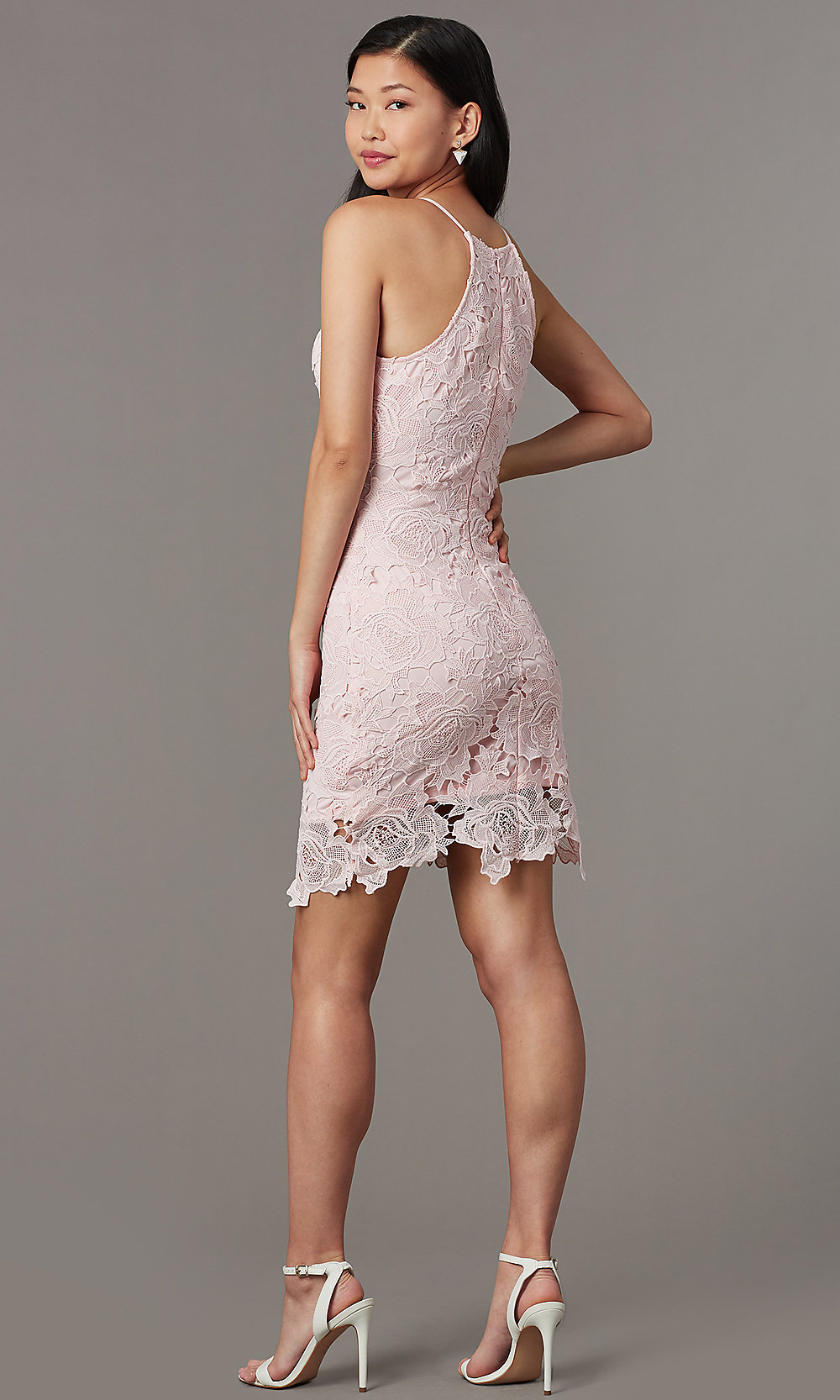 Embroidered Short Wedding-Guest Party Dress - PromGirl