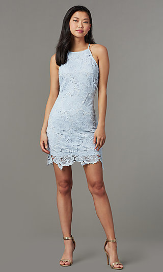 Short Lace Wedding Guest Party Dress
