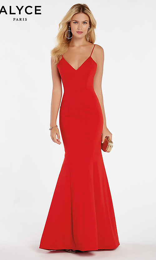 Image of Alyce long designer mermaid formal prom dress. Style: AL-60293 Front Image