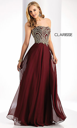 Strapless Sweetheart Long Clarisse Prom Dress