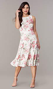 Image of princess-cut floral-print lace party dresses Style: JU-TI-t3117 Front Image