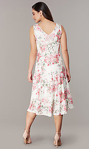 Image of princess-cut floral-print lace party dresses Style: JU-TI-t3117 Back Image