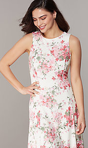Image of princess-cut floral-print lace party dresses Style: JU-TI-t3117 Detail Image 1
