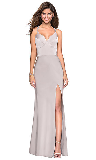 27ba93c328 Long Caged Back Prom Dress by La Femme