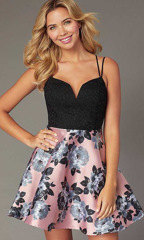 Image of short sweetheart a-line homecoming dress. Style: CT-3622BD3AT3 Detail Image 1