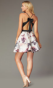 Image of short sweetheart homecoming party dress with pockets. Style: CT-5752QA8DT3 Back Image
