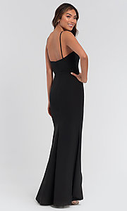 Image of high-low bridesmaid dress by Kleinfeld. Style: KL-200050-v Back Image