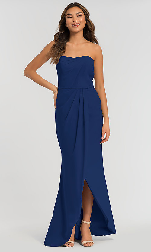 Image of high-low bridesmaid dress by Kleinfeld. Style: KL-200050-v Front Image
