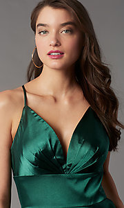Image of open-v-back short homecoming dress by Faviana. Style: FA-S10363 Detail Image 4