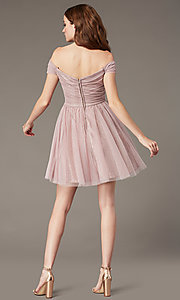 Image of sweetheart short off-the-shoulder homecoming dress. Style: CT-8145CH4AT3 Back Image