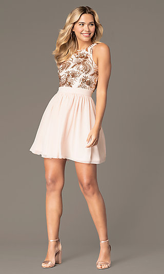 Short A-Line Homecoming Dress by PromGirl