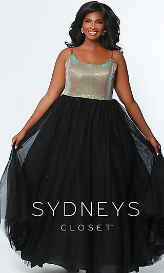A-Line Two-Tone Plus Prom Dress by Sydney's Closet