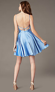 Image of square-neck short JVNX by Jovani homecoming dress. Style: JO-JVNX2274 Back Image