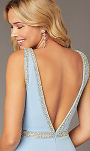 Image of light blue JVNX by Jovani short homecoming dress. Style: JO-JVNX2272 Detail Image 2