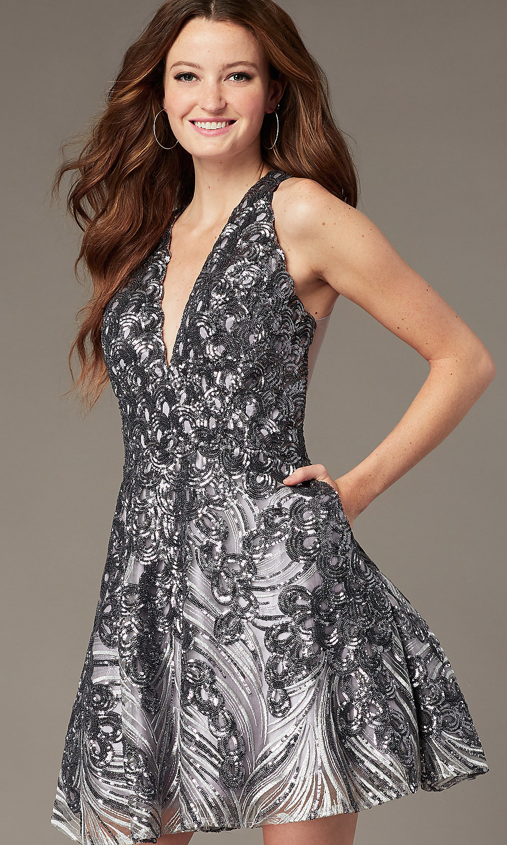 Backless Short Homecoming Party Dress with Corset   Light