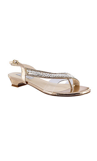 Eleanor Rose Gold Sandal by Touch Ups