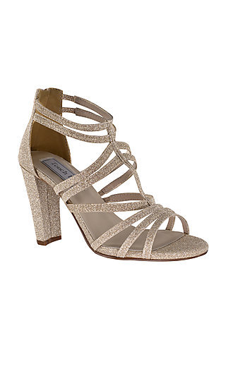 Champagne Rhyan High-Heeled Sandal