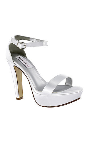 White Mary High-Heel Pump
