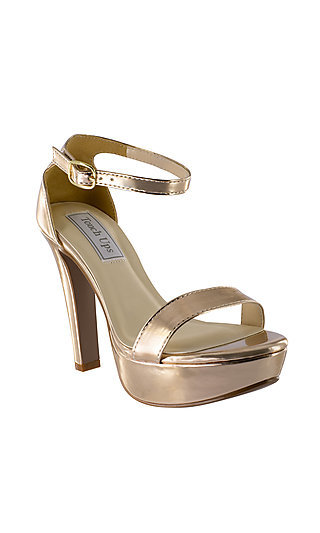 Metallic Rose Gold Mary Pump