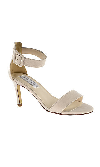 Beige Imitation Suede Brenda Sandal by Touch Ups