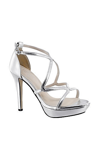 Silver Lennox Platform Sandal by Touch Ups