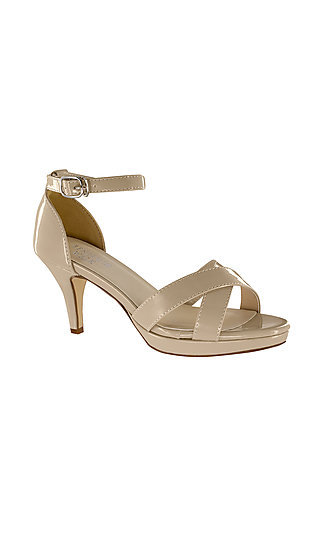Nude Suzanne Sandal by Touch Ups