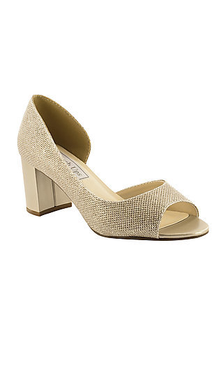 Champagne Gold Joy Peep-Toe Pump