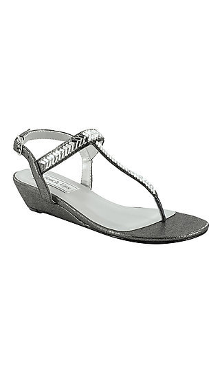 Pewter Silver Kendra Wedge Sandal with a 1