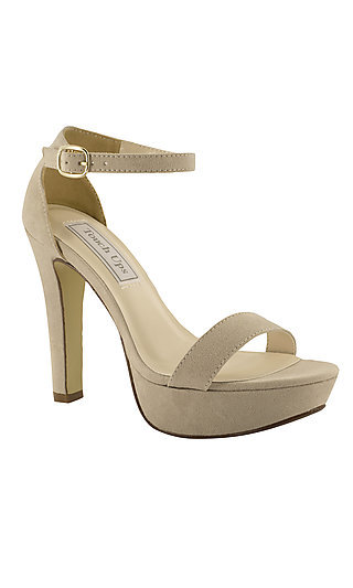 Beige Faux Suede Mary Sandal by Touch Ups