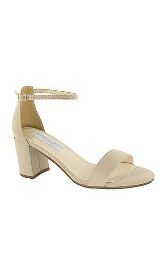 January Block-Heeled Sandal in Beige