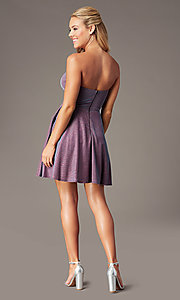 Image of PromGirl strapless short sparkly homecoming dress. Style: LP-PL-26482 Back Image