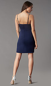 Image of pencil-skirt short homecoming dress by Simply. Style: LP-SD-MG20043 Detail Image 4