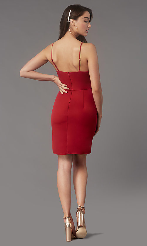 Image of pencil-skirt short homecoming dress by Simply. Style: LP-SD-MG20043 Back Image