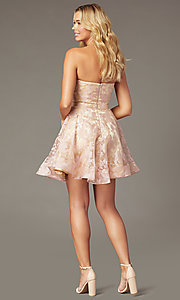 Image of strapless sweetheart short hoco dress by PromGirl. Style: TE-PL-4211 Back Image
