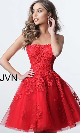 Fit-and-Flare JVN by Jovani Homecoming Dress