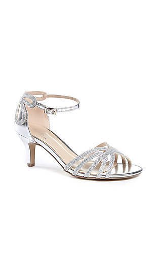 Short-Heeled Silver Melby Shoes