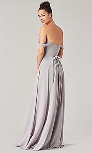 Image of long sweetheart bridesmaid dress with side slit. Style: KL-200208 Detail Image 5