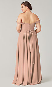 Image of long sweetheart bridesmaid dress with side slit. Style: KL-200208 Detail Image 8