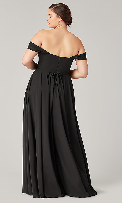 Image of long sweetheart bridesmaid dress with side slit. Style: KL-200208 Detail Image 3