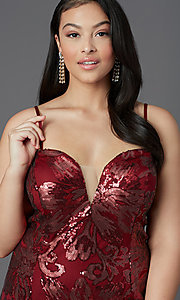 Image of strapless long plus-size prom dress by PromGirl. Style: SC-PL-PG-2003 Detail Image 1