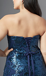 Image of strapless long plus-size prom dress by PromGirl. Style: SC-PL-PG-2003 Detail Image 5