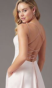 Image of PromGirl long formal prom dress with corset back. Style: PG-B2001 Detail Image 5