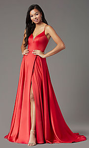 Image of PromGirl long formal prom dress with corset back. Style: PG-B2001 Detail Image 2