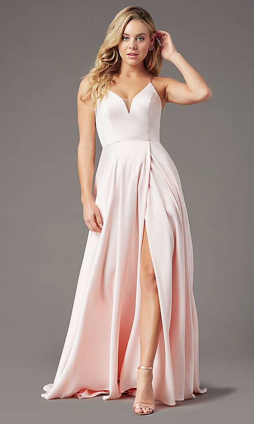 Image of PromGirl long formal prom dress with corset back. Style: PG-B2001 Detail Image 3