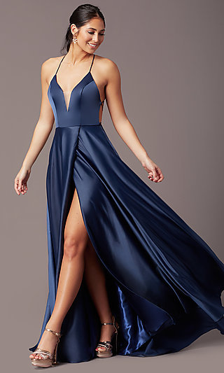 Corset Open-Back Long Prom Dress by PromGirl