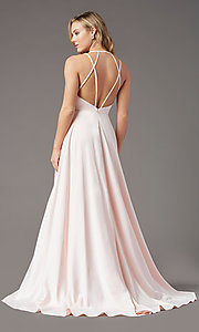 Image of strappy-back long formal prom dress by PromGirl. Style: PG-B2008 Detail Image 4