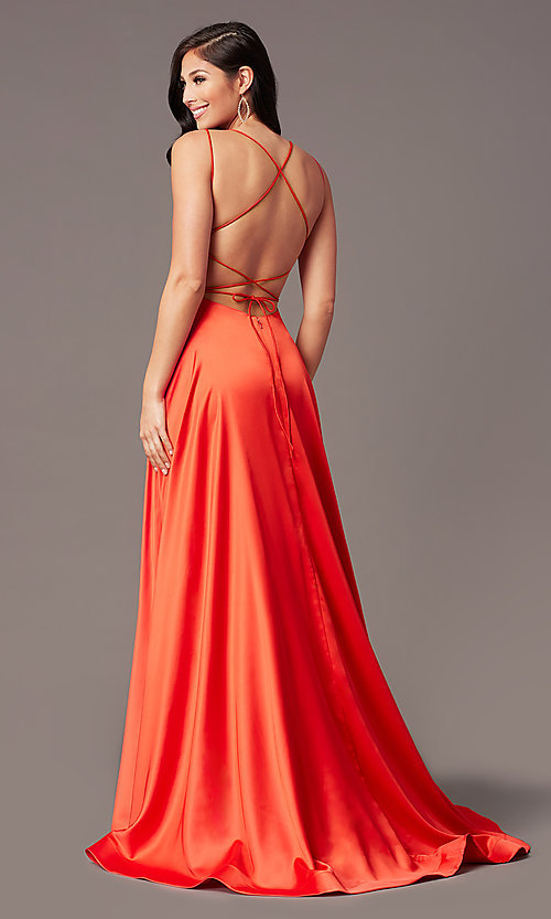 Image of square-neck long formal prom dress by PromGirl. Style: PG-B2010 Detail Image 7