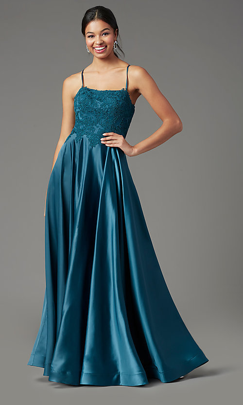 Image of PromGirl embroidered-bodice formal long prom dress. Style: PG-B2019 Detail Image 6