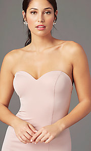 Image of strapless sweetheart long prom dress by PromGirl. Style: PG-F2023 Detail Image 7