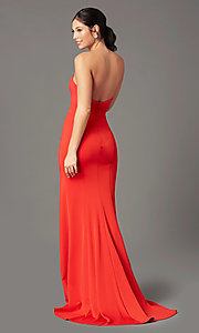 Image of strapless sweetheart long prom dress by PromGirl. Style: PG-F2023 Back Image